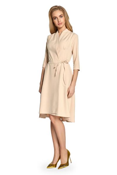Clea Plissee Kleid mit Bindung