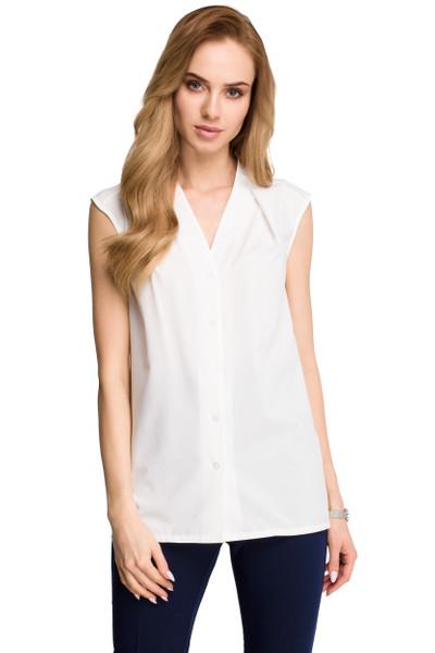 Clea Ärmelloses Hemd mit Knöpfen