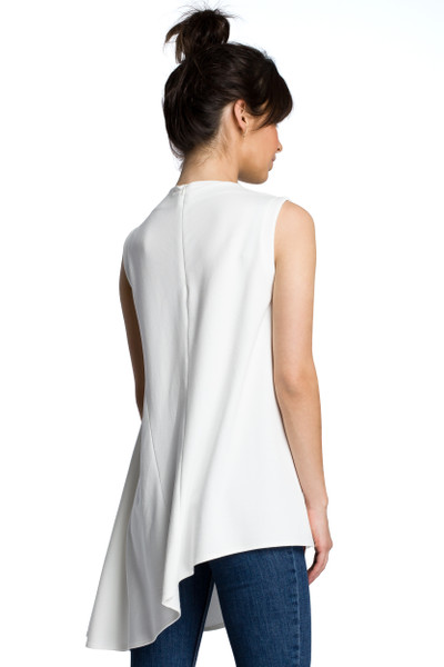 Clea Asymmetrische ärmellose Bluse