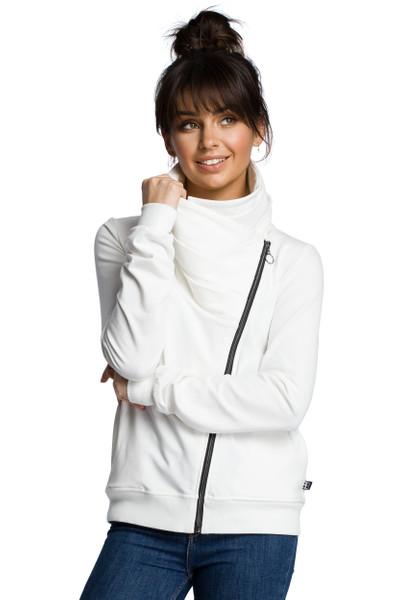 Clea Sweatshirt mit einem schrägen Reißverschluss.