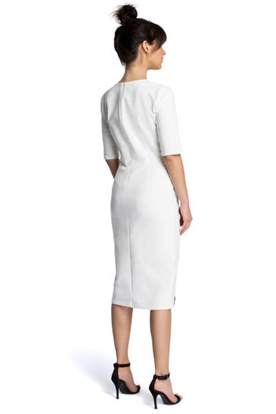 Clea Kleid mit Ausschnitt und Spitzeneinsatz