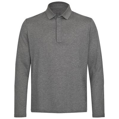 Golfer-Shirt aus Seide anthrazit Langarm – Bild 2
