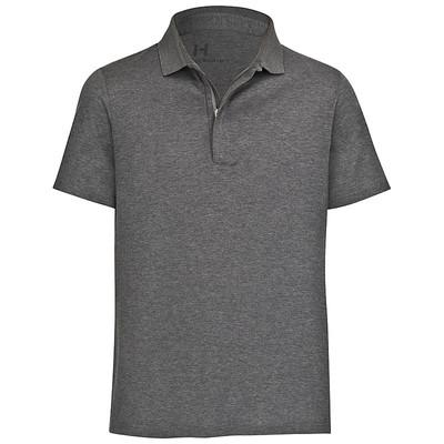 Golfer-Polo aus Seide anthrazit Kurzarm – Bild 1