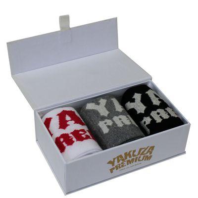 Yakuza Premium Socken 3er Set Schwarz + Grau  + Weiß