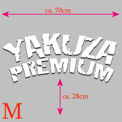 Yakuza Premium car sticker for rear window in white – Bild 3