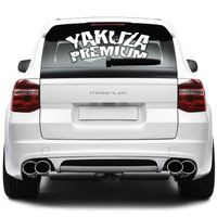 Yakuza Premium car sticker for rear window in white 001