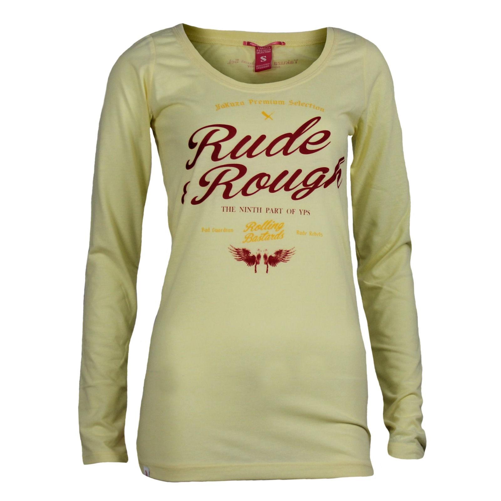 658de48a5be387 Yakuza Premium Women Long Sleeve Shirt GS 2141 light yellow WOMEN T ...