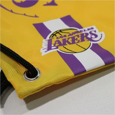 Forever C. Gym Bag LA LAKERS yellow Turnbeutel Sport Beutel – Bild 2