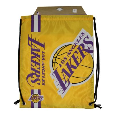 Forever C. Gym Bag LA LAKERS yellow Turnbeutel Sport Beutel – Bild 4