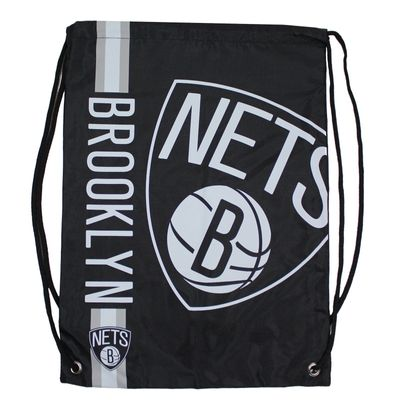 Forever C. Gym Bag BROOKLYN NETS black Turnbeutel Sport Beutel – Bild 1