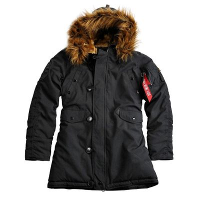 ALPHA INDUSTRIES Damen Winterjacke EXPLORER schwarz – Bild 1