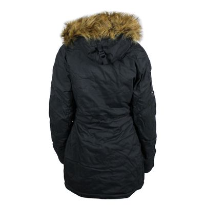 ALPHA INDUSTRIES Damen Winterjacke EXPLORER schwarz – Bild 2