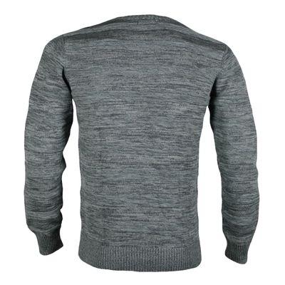 REELL JEANS Herren Pullover Knitted Striped Light Grey – Bild 2