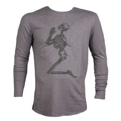 Religion Clothing Herren Sweater Praying Skeleton Top taupe – Bild 1
