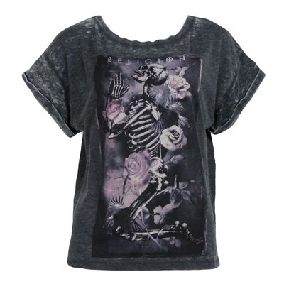 RELIGION CLOTHING Damen Shirt LABYRINTH TEE charcoal – Bild 1