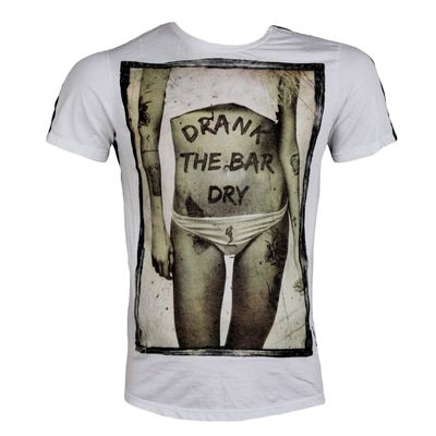 RELIGION CLOTHING Herren T-Shirt DRANK THE BAR DRY denim – Bild 1