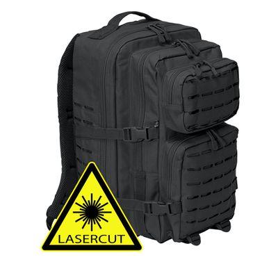 Brandit Back Bag Rucksack US COOPER lasercut schwarz
