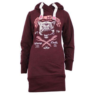 Yakuza Premium Damen Long Sweatshirt GH 2347 weinrot – Bild 1
