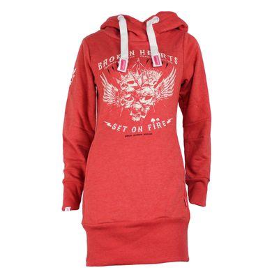 Yakuza Premium Damen Long Sweatshirt GH 2346 coral – Bild 1