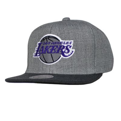 M&N Basecap LA LAKERS Heather Reflective charcoal Snapback – Bild 1