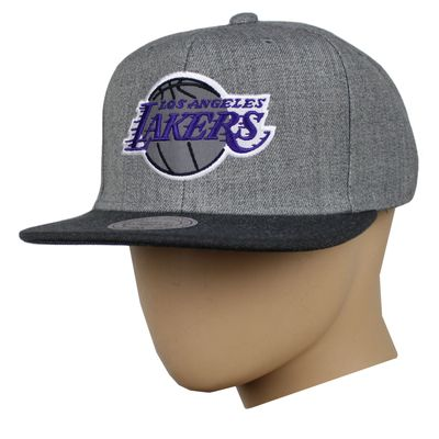 M&N Basecap LA LAKERS Heather Reflective charcoal Snapback – Bild 4