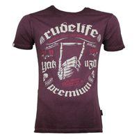 Yakuza Premium T-Shirt VINTAGE 101 burgundy washed 001