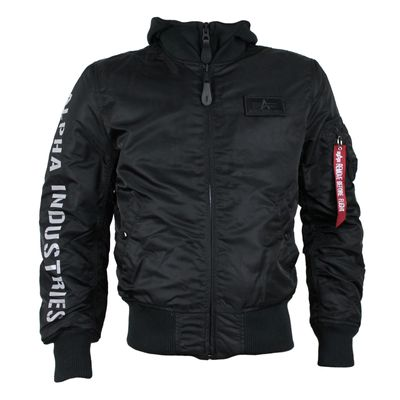 ALPHA INDUSTRIES Fliegerjacke MA-1 D-Tec SE black reflective – Bild 1