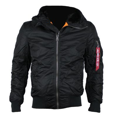 ALPHA INDUSTRIES Fliegerjacke MA-1 hooded black – Bild 1