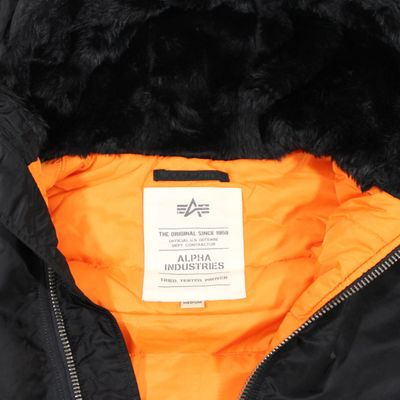 ALPHA INDUSTRIES Fliegerjacke MA-1 hooded black – Bild 3