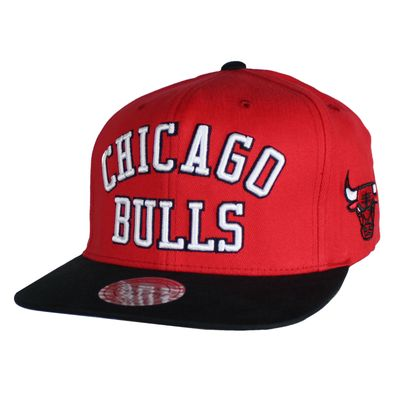 M&N Basecap CHICAGO BULLS Wordmark red Snapback – Bild 1