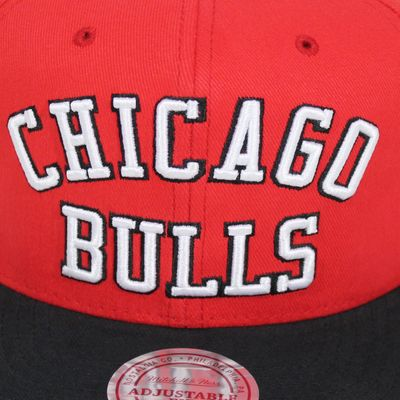 M&N Basecap CHICAGO BULLS Wordmark red Snapback – Bild 2