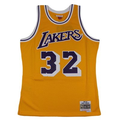 M&N Swingman Jersey MAGIC JOHNSON LA Lakers 1984-85 NBA Trikot – Bild 1