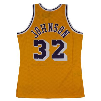 M&N Swingman Jersey MAGIC JOHNSON LA Lakers 1984-85 NBA Trikot – Bild 2