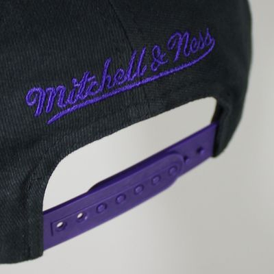 M&N Basecap LA LAKERS Wordmark black Snapback – Bild 3