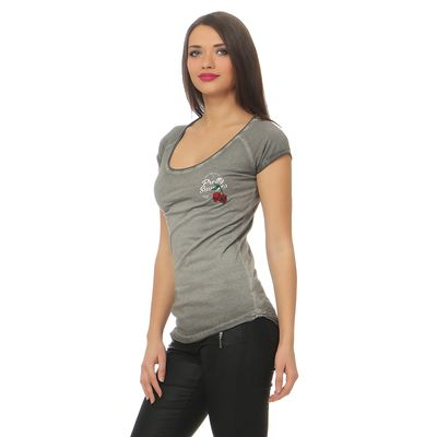 Yakuza Premium Damen T-Shirt GS 2438 grey washed – Bild 3