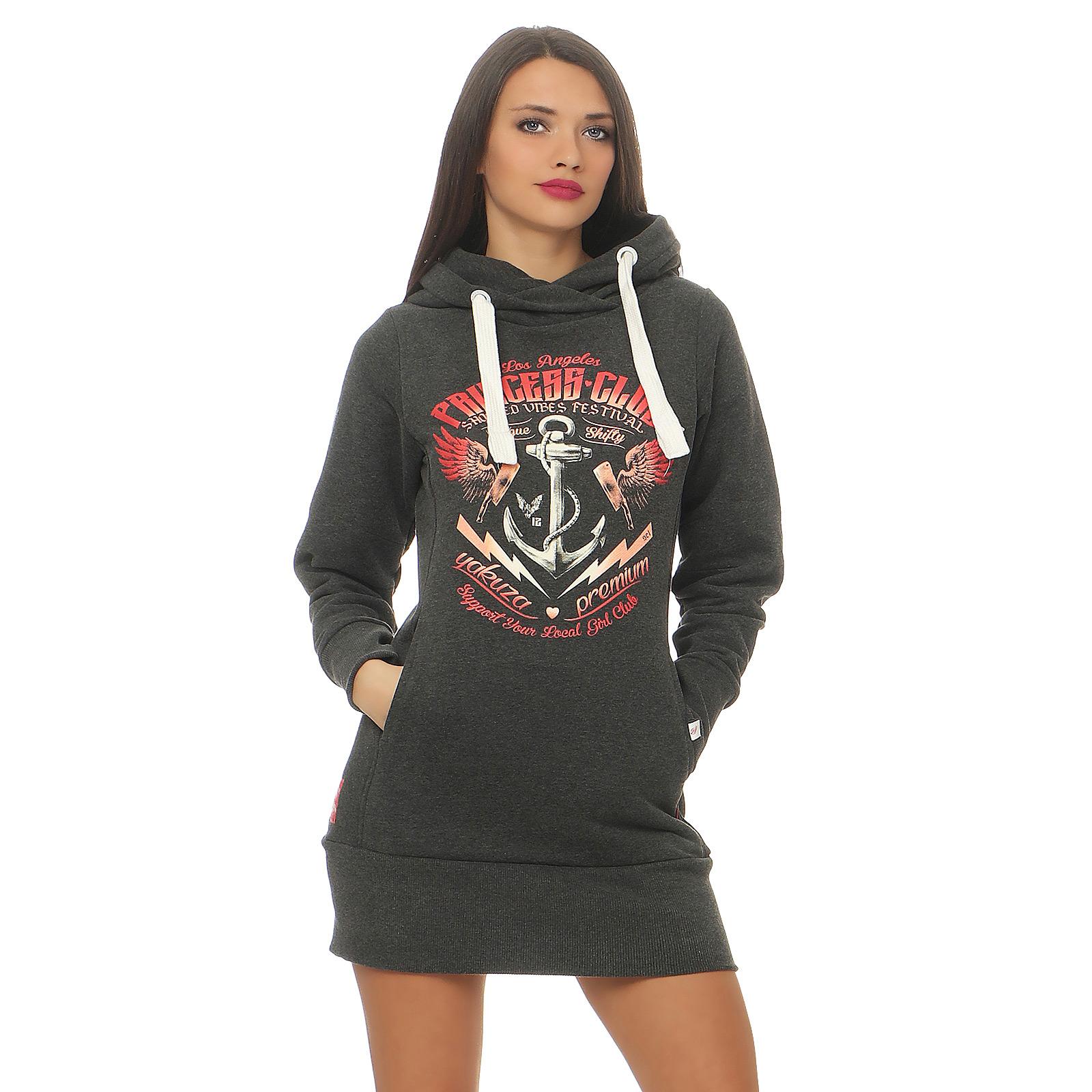 Yakuza Premium Women Long Sweatshirt GH 2443 anthra SPECIALS WOMEN ... 6cce0013b84
