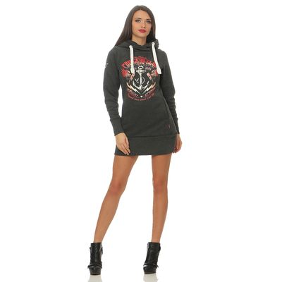 Yakuza Premium Women Long Sweatshirt GH 2443 anthra – Bild 3