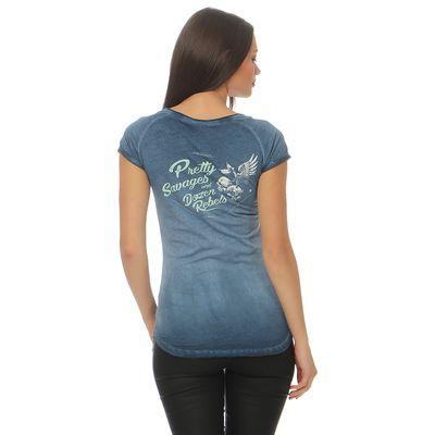 Yakuza Premium Damen T-Shirt GS 2438 blue washed – Bild 2