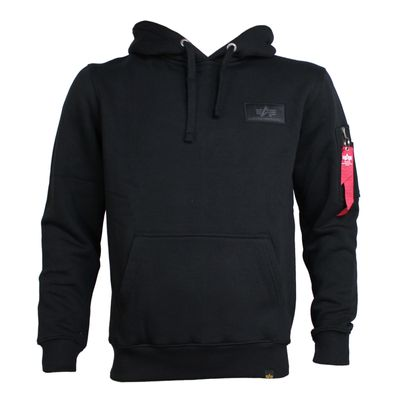 ALPHA INDUSTRIES Sweatshirt BACK PRINT HOODY black – Bild 2