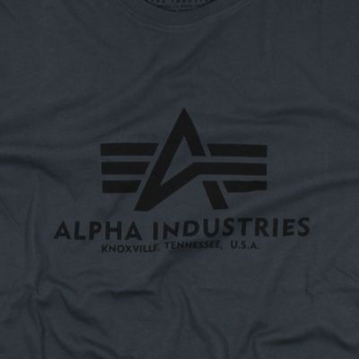 Alpha Industries T-Shirt Basic greyblack – Bild 2
