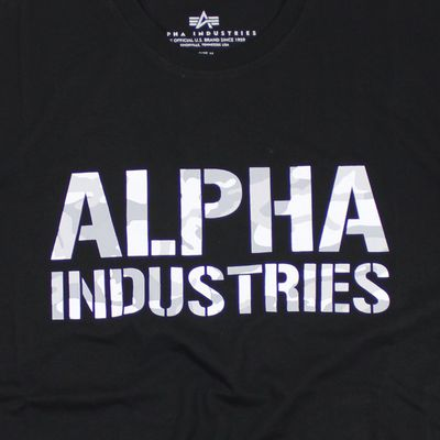 ALPHA INDUSTRIES T-Shirt CAMO PRINT T black white – Bild 3