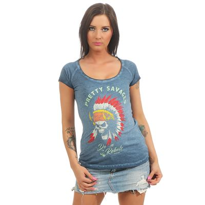 Yakuza Premium Damen T-Shirt GS 2439 blue washed – Bild 1