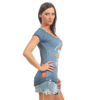 Yakuza Premium Damen T-Shirt GS 2439 blue washed – Bild 3