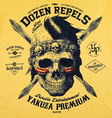 Yakuza Premium T-Shirt VINTAGE 206 yellow washed – Bild 3