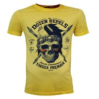 Yakuza Premium T-Shirt VINTAGE 206 yellow washed