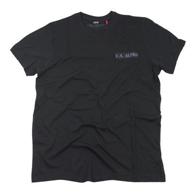 Alpha Industries T-Shirt ALS T black – Bild 1