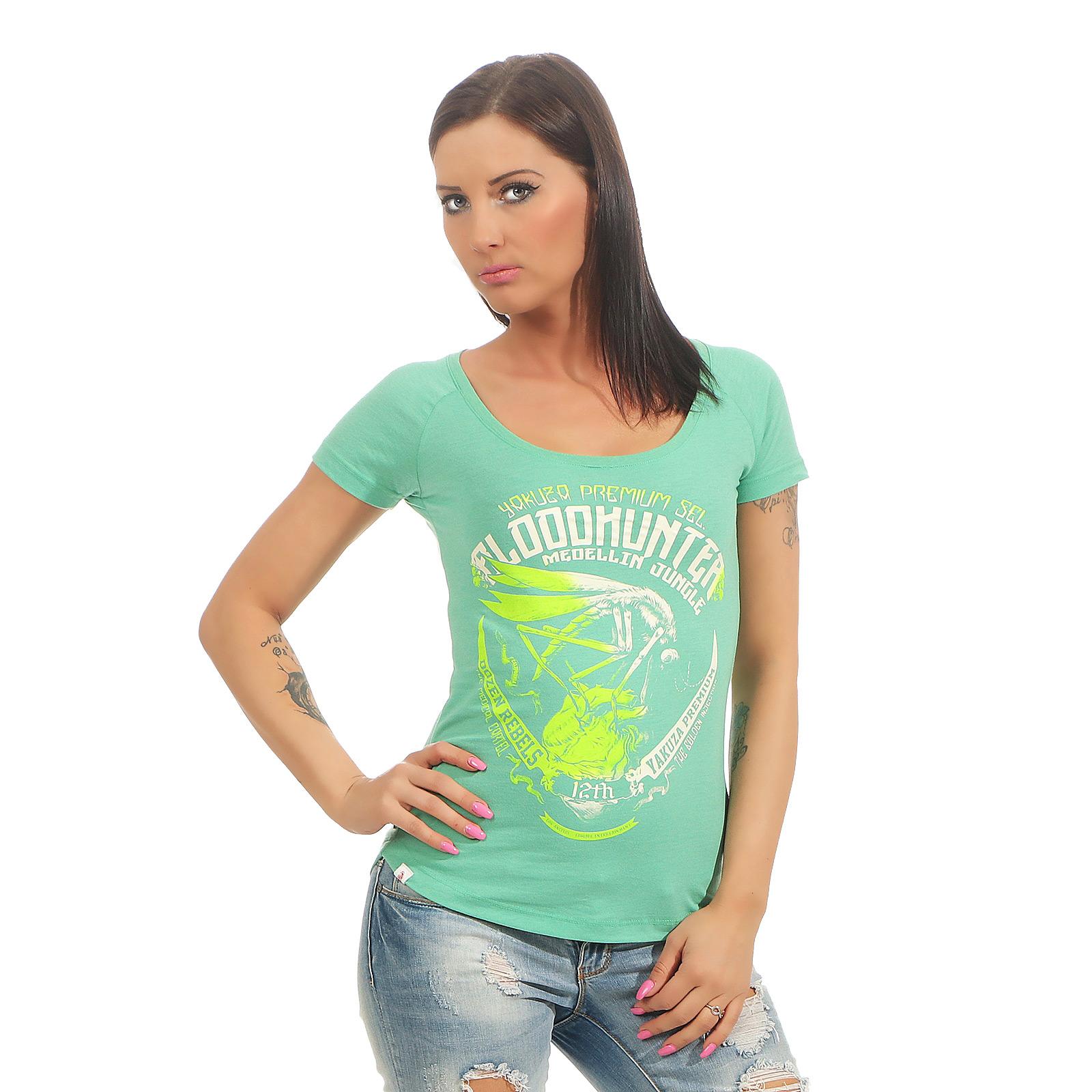 981c87e875da8 Yakuza Premium Damen T-Shirt GS 2433 grün DAMEN SHIRTS & TOPS