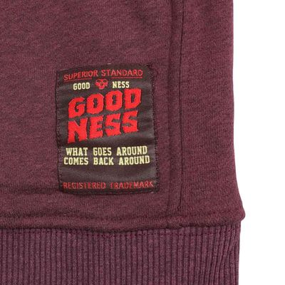 Goodness Industries Herren Sweatshirt Cliff 002 bordo  – Bild 4