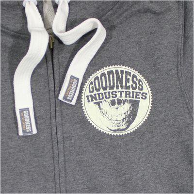 Goodness Industries Herren Sweatjacke GN0009 grau – Bild 3