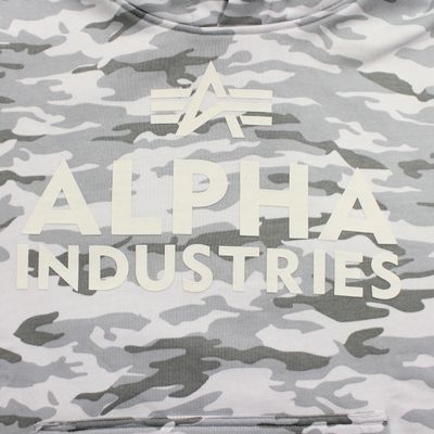 Alpha Industries Sweatshirt FOAM PRINT HOODY white camo – Bild 3